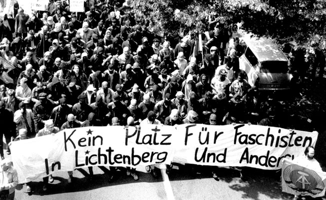 Antifa-Demo, 23. Juli 1990 in Berlin-Lichtenberg
